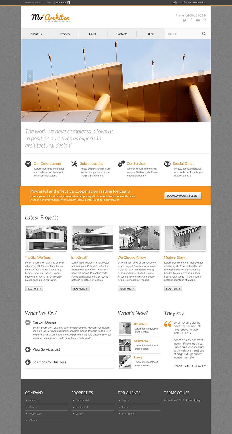 Cherry Architecture WordPress Theme