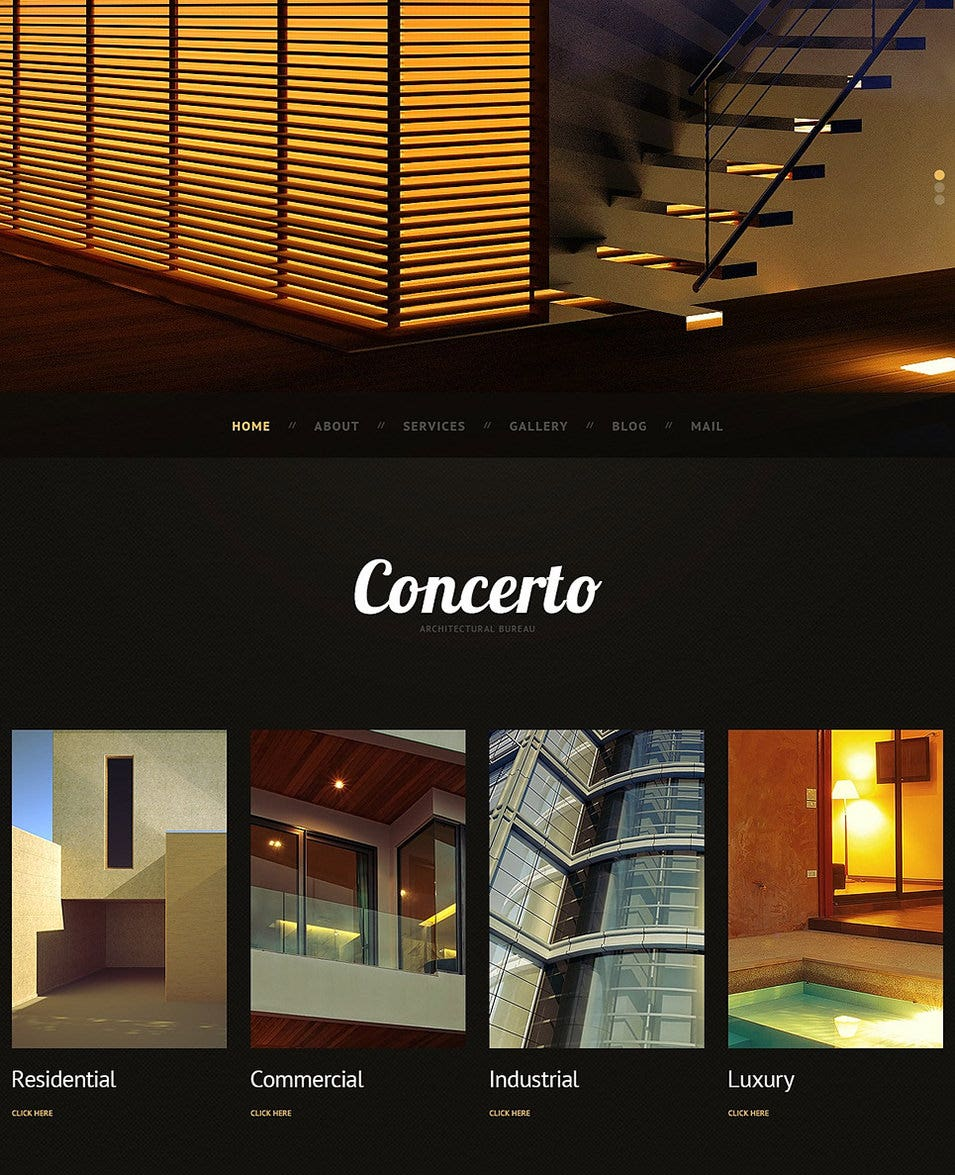 Dark Architecture WordPress Theme