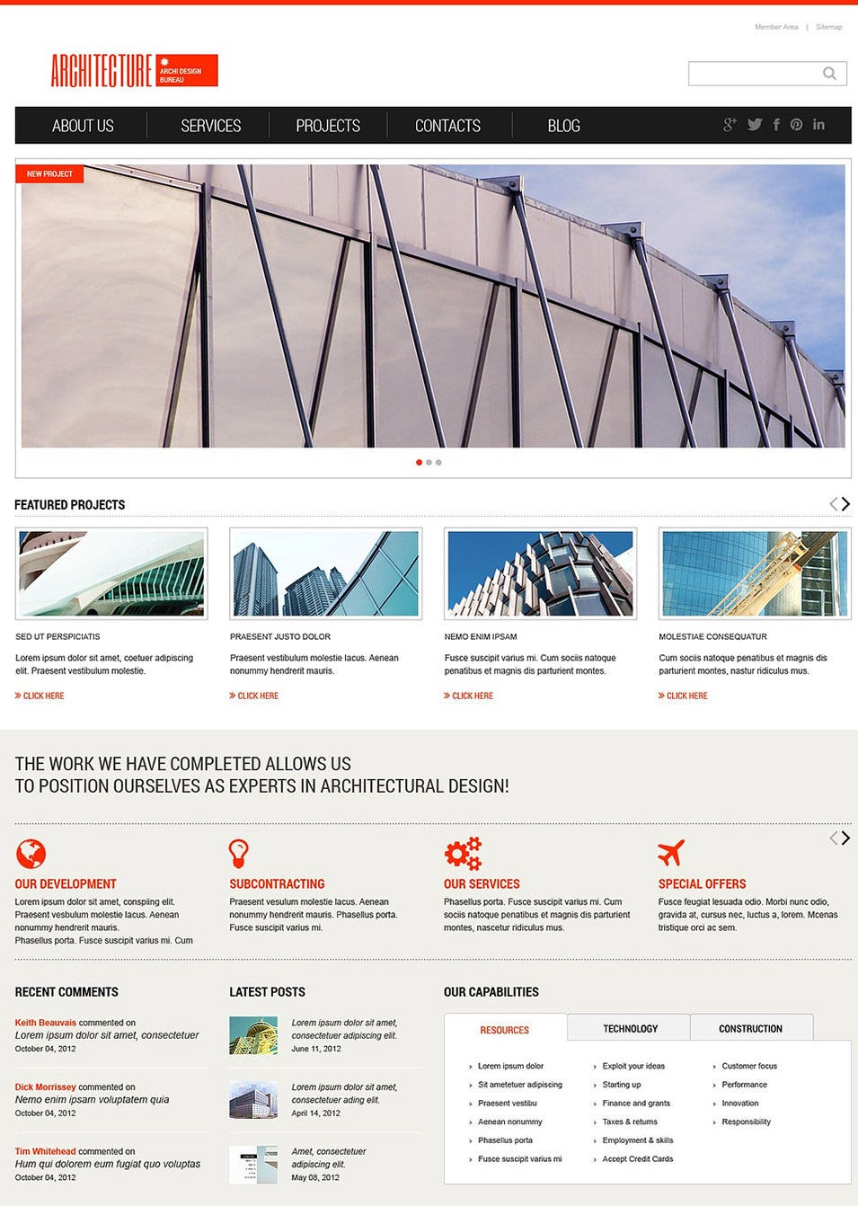 Light Architecture WordPress Theme