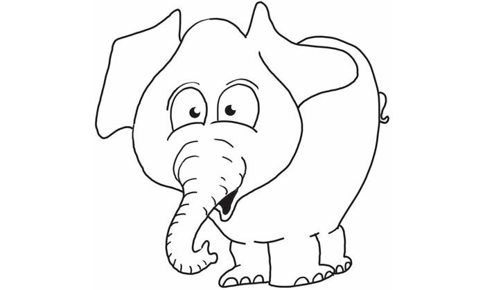 photograph regarding Printable Elephant Stencil identified as Elephant Template - Animal Templates Absolutely free Quality Templates