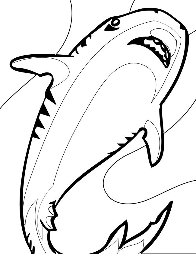 free shark coloring pages download