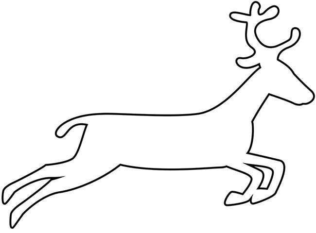 Amazing image intended for reindeer printable template