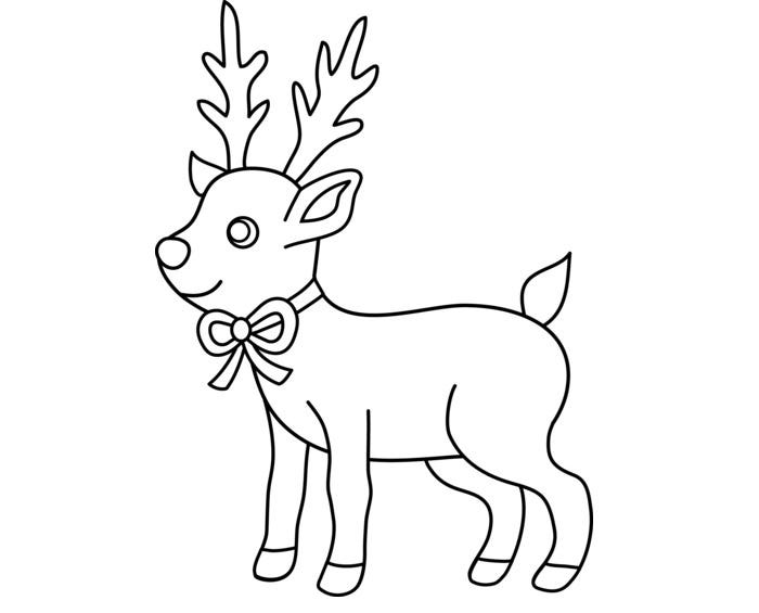 Reindeer Template Animal Templates Free Premium