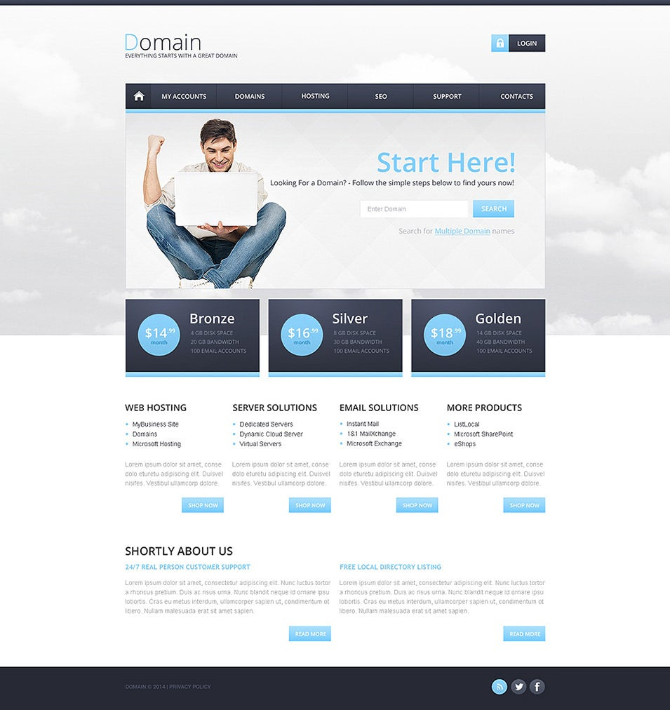 Best Web Hosting Website Templates Themes Free Premium - Website template builder
