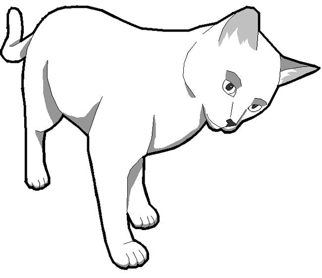 graphic regarding Cat Stencil Printable referred to as Cat Form Template - Animal Templates No cost High quality Templates