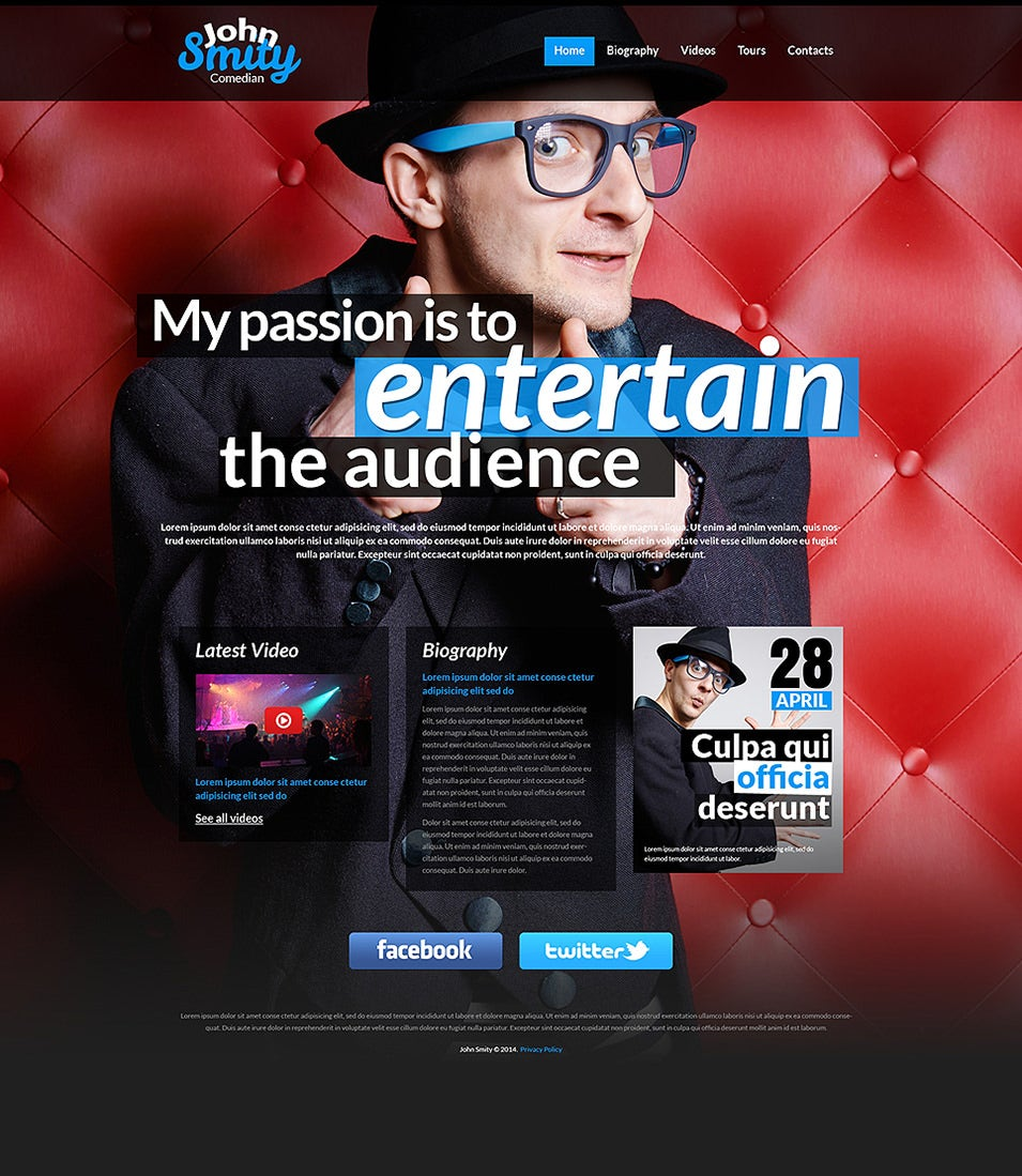 actor website templates themes free premium free premium
