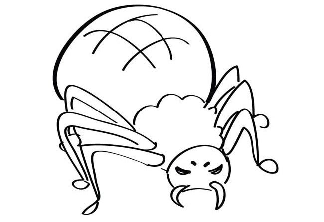 Spider Shape Template - 55+ Crafts & Colouring Pages | Free ...