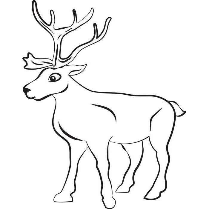 Reindeer template animal templates free premium for Reindeer cut out template