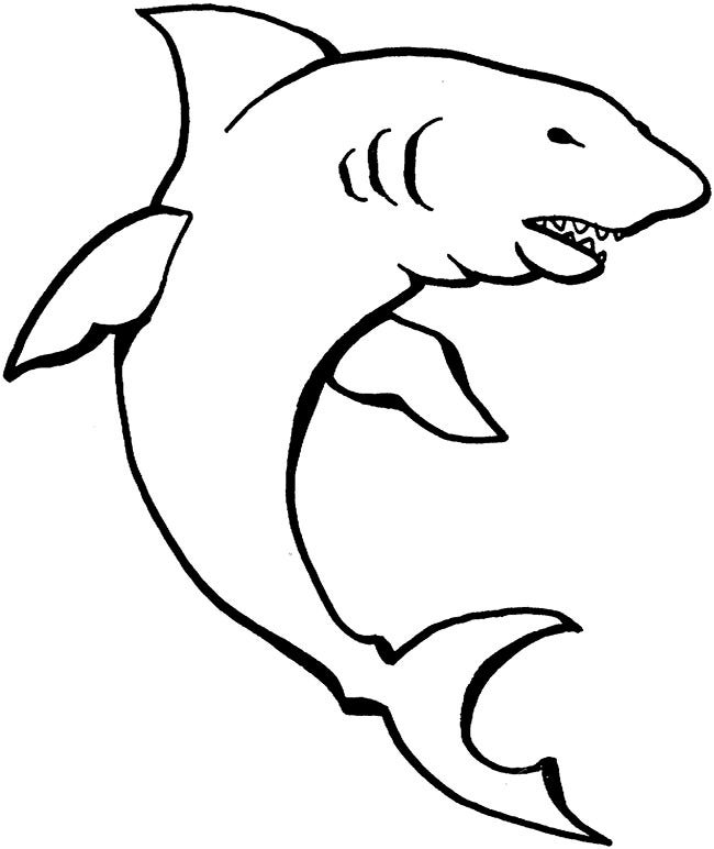 55+ Shark Shape Templates, Crafts & Colouring Pages | Free & Premium ...