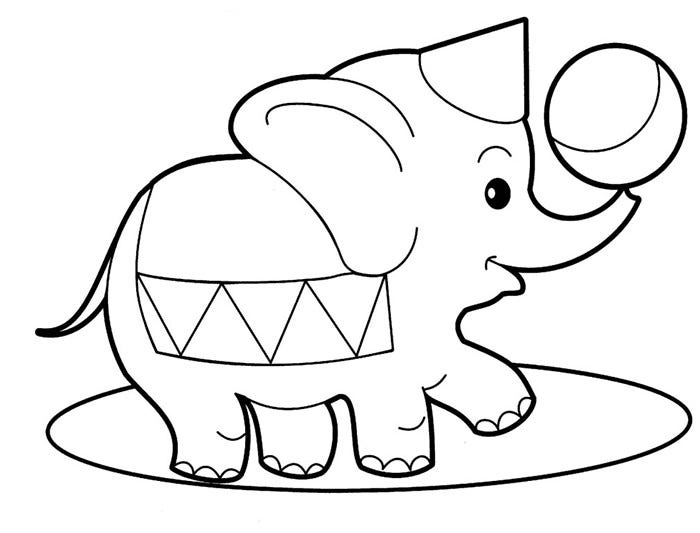 graphic relating to Elephant Outline Printable titled Elephant Template - Animal Templates Absolutely free Quality Templates