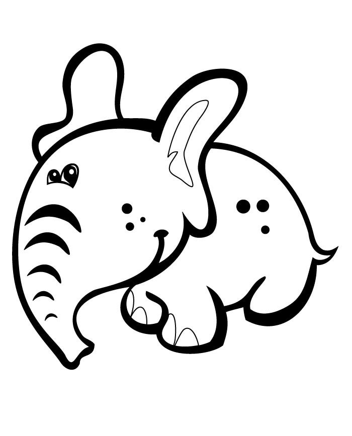 halloween elephant coloring pages - photo#31