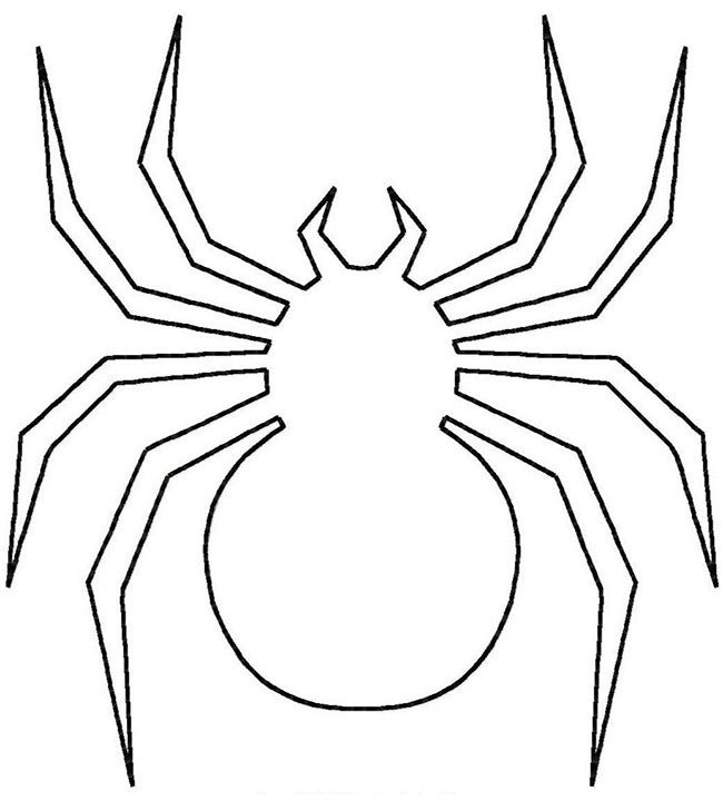 It's just a photo of Comprehensive Spider Template Printable
