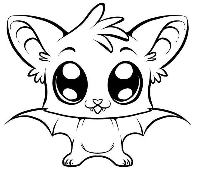 cute little bat template