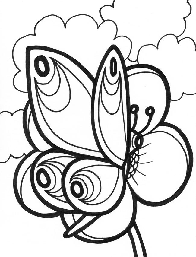 30+ Butterfly Templates – Printable Crafts & Colouring Pages | Free ...