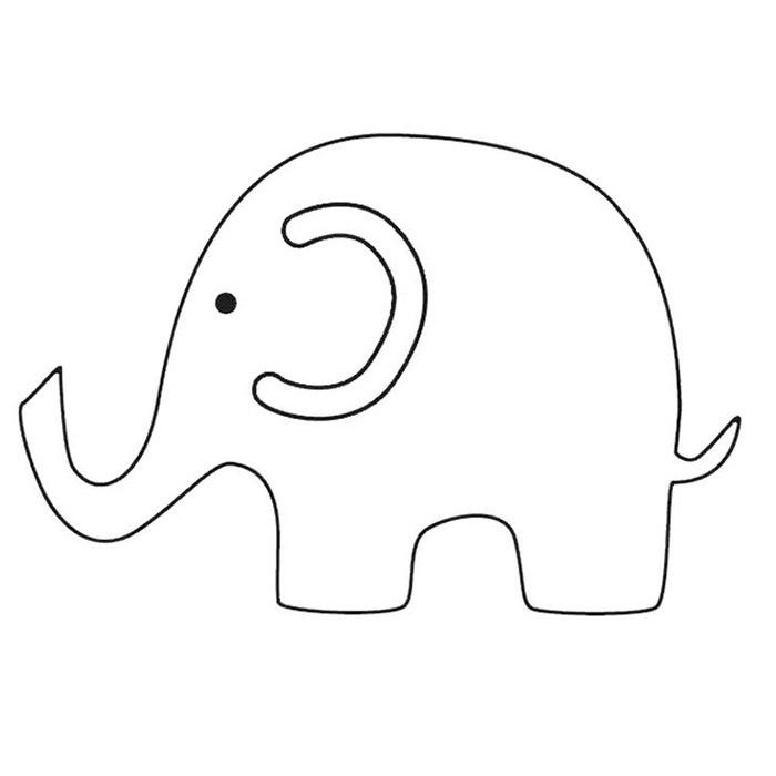 Shocking image throughout elephant outline printable