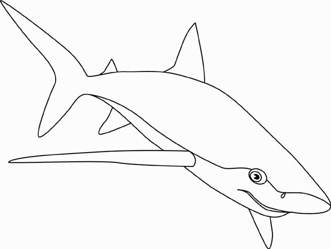 blue shark coloring pages - photo#12