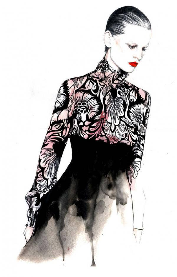 Caroline Andrieu Fashion Illustration
