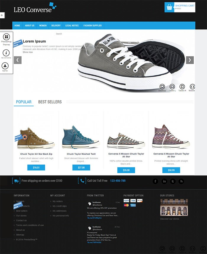 a totally free responsive prestashop th