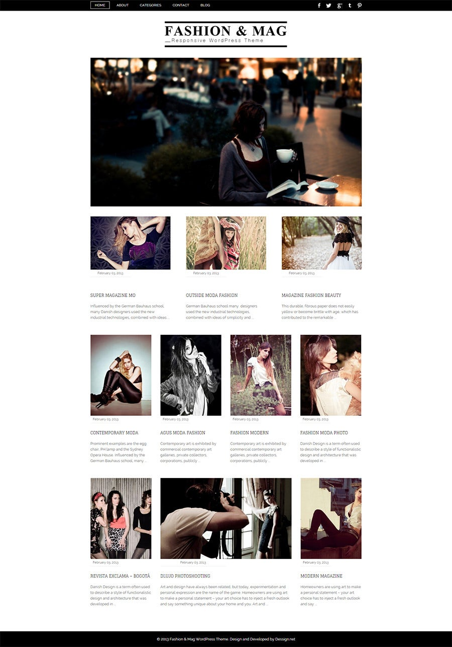 Fashion & Magazine Responsive WordPress Theme