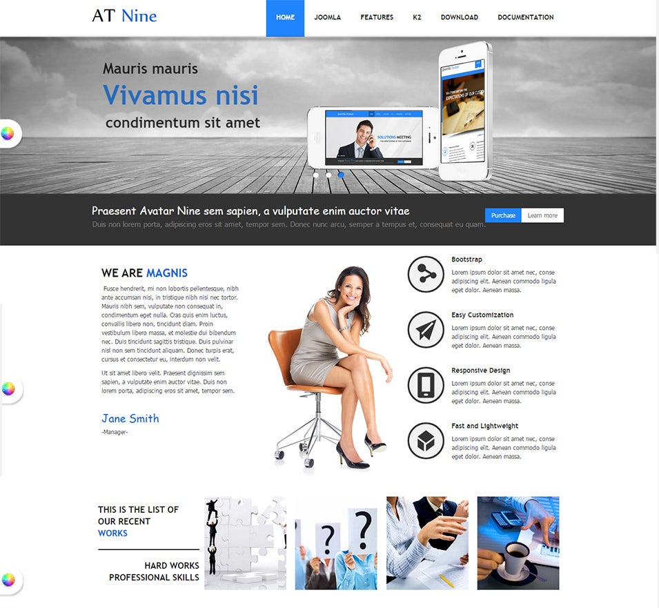 Fein Joomla Bootstrap Template Free Ideen - Entry Level Resume ...