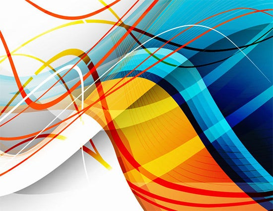 abstract vector wave free