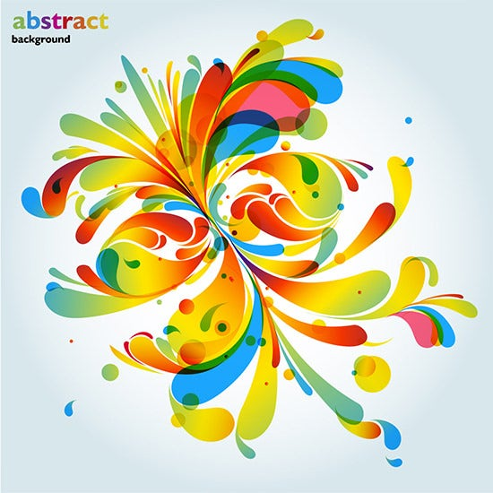 abstract colorful fashion pattern vector