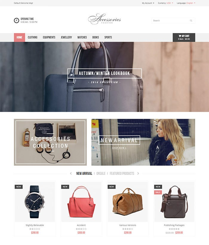 accessories responsive prestashop theme