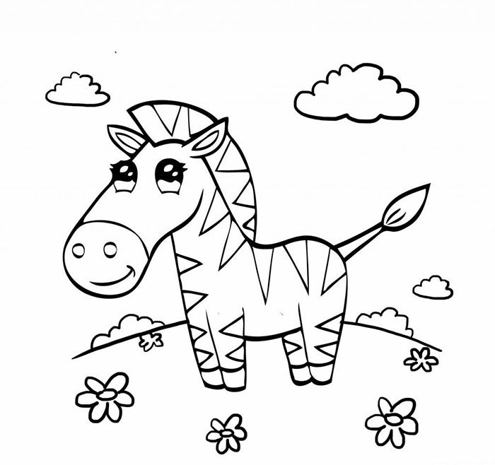 adorable preschool coloring pages zebra