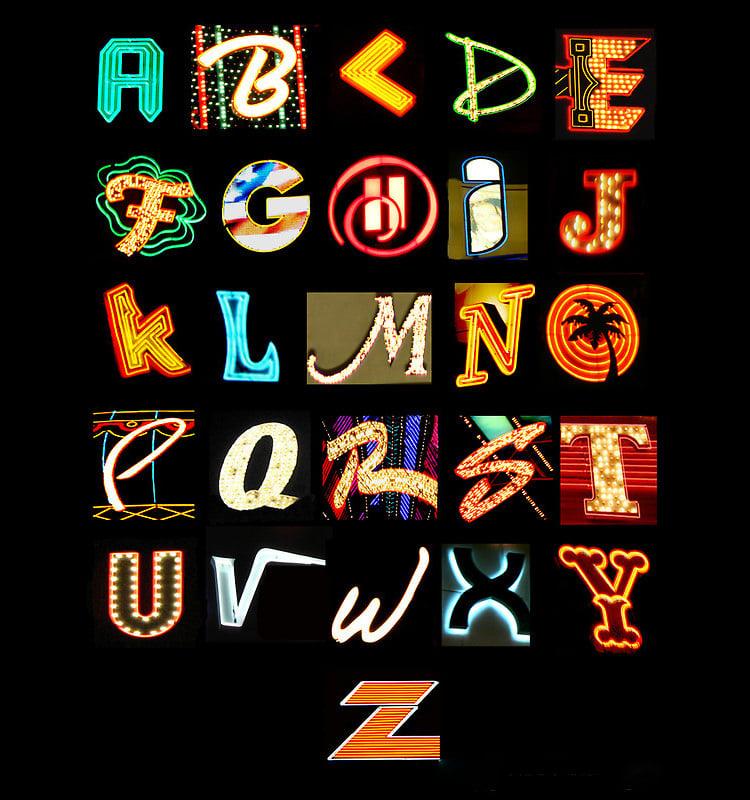 alphabet poster template