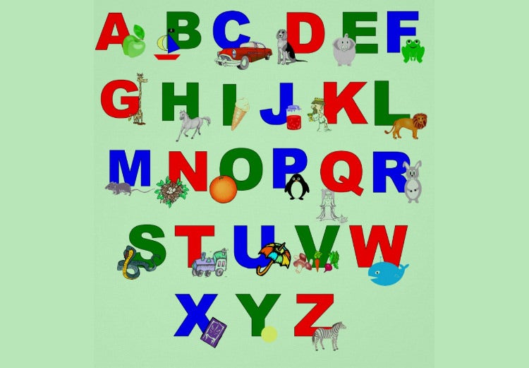 alphabet wall poster green1