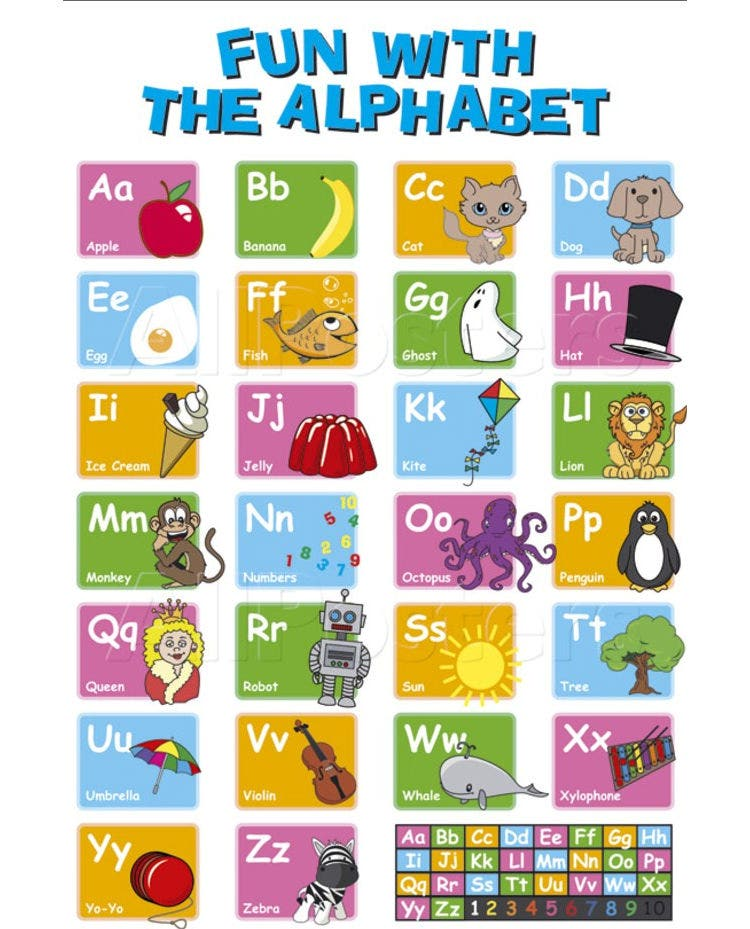 35 Best Printable Alphabet Posters Amp Designs