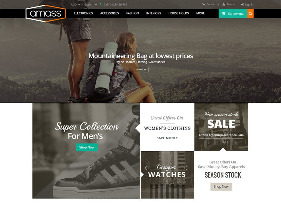 amass prestashop responsive theme