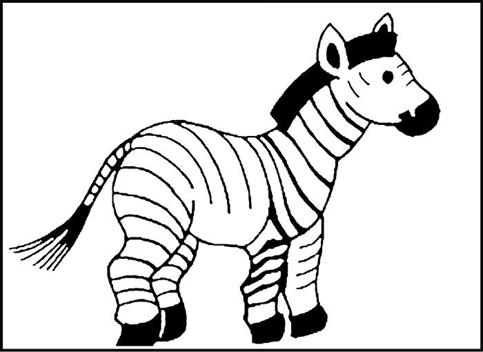 animal coloirng page zebra