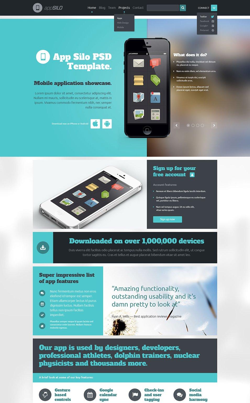 15 best psd app templates free app template psd free for Facebook app template psd