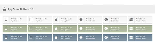App Store Buttons 3D