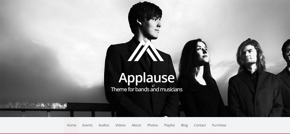 applause theme for bands and musicians