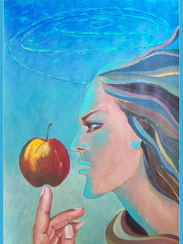 apple like earth painting