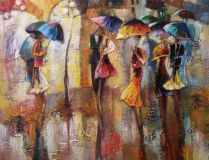 april showers figurative art