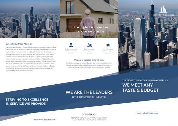 architecture a3 tri fold brochure