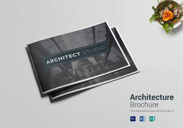 architecture brochure template psd download