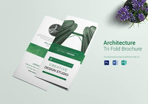 architecture interior designer tri fold brochure