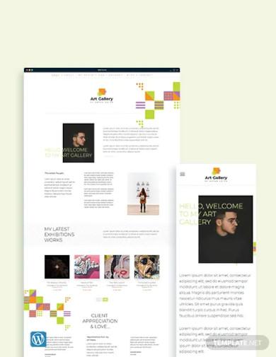 art gallery wordpress theme template