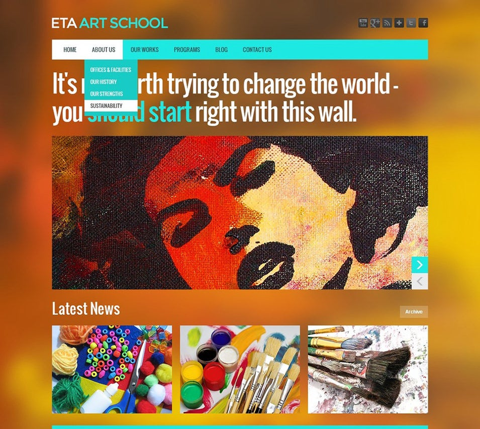 art school wordpress theme