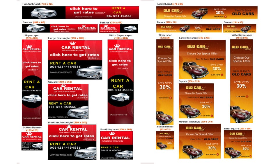 Automobile Banner Ad