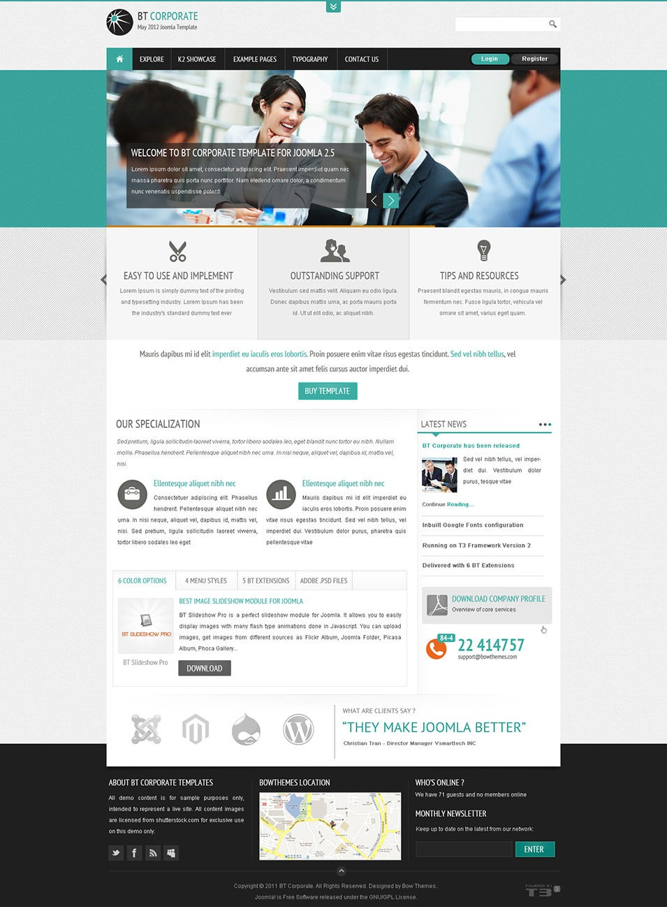 bt corporate template for joomla
