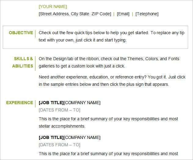 Example Of Objective In Resume. Examples Of Objectives On A Resume ...