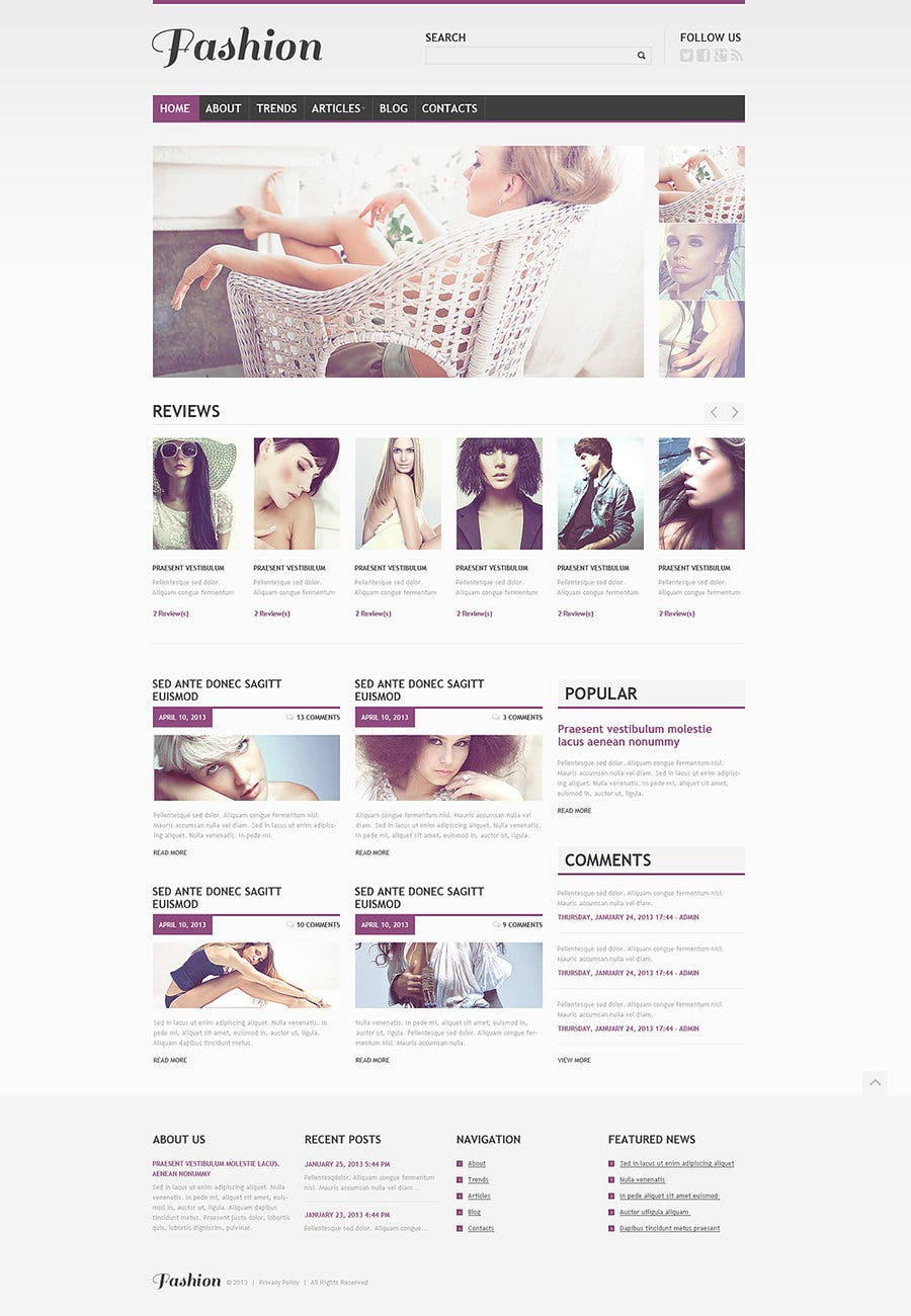 Beautiful Apparel WordPress Theme