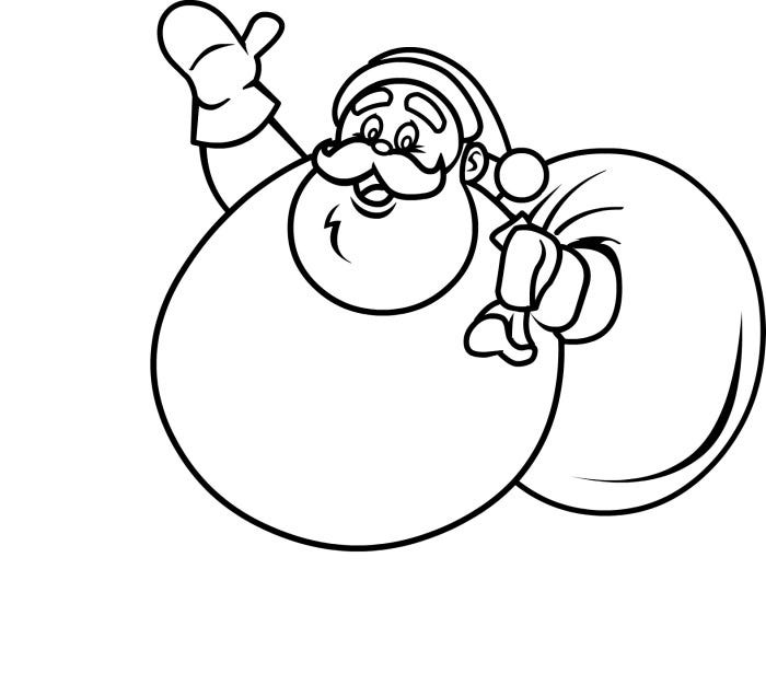 beautiful coloring page of santa