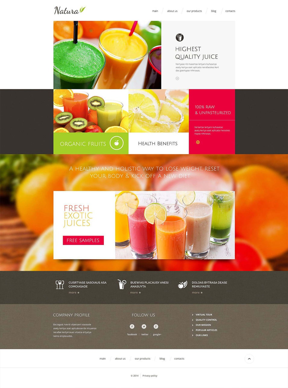 beautiful juice company drupal template