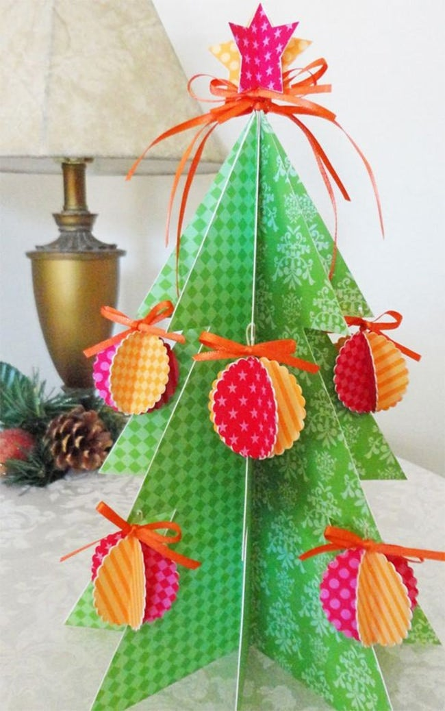 beautiful paper christmas tree crafts